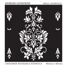Damask Catherine Home Decor Designer Reusable Stencil 45cmsx45cms