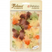 Burlap Leaves 36/Pkg By Textured Elements