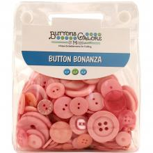 Buttons Galore Button Bonanza - Pink Jumbo Pack