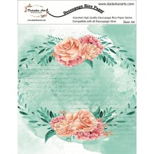 Watercolor Rose Rice Paper A4 By Get Inspired