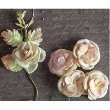"Fabric Flowers Relics & Artifacts 4""X5.25"" 2/Pkg"