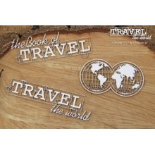 Travel the world - Globe Eng By Scrapiniec