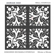 Damask Jane Home Decor Designer Reusable Stencil 45cmsx45cms