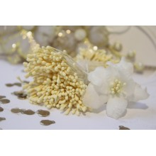 Matte Ivory 2mm Head Size Flower making Stamens Stiff Thread Pollens