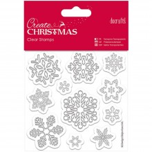 "Snowflakes Clear Stamps Papermania Create Christmas Clear Stamps 4""X4"""