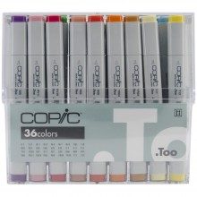 Copic Basic Original Markers Set 36/Pkg
