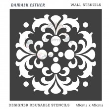 Damask Esther Home Decor Designer Reusable Stencil 45cmsx45cms
