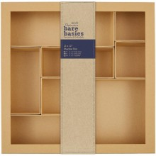 "Papermania Bare Basics Kraft Chipboard Shadow Box 12""X12"""