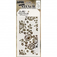 "Roses Stencil By Tim Holtz 4.125""X8.5"""