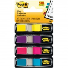 "Post-It Flags .47""X1.7"" 140/Pkg Assorted Bright Colors"