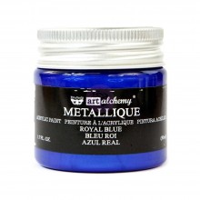 Metallique Royal Blue Finnabair Art Alchemy Acrylic Paint 1.7 Fluid Ounces