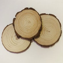 Wood Country Round Coaster 3/Pkg