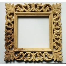 "Natural Vine Carved Vintage Square Frame 13""x13"""