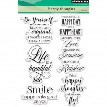 Penny Black Clear Stamps Happy Thoughts