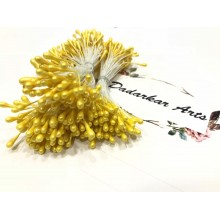 Pearl Yellow 2mm Head Size Flower making Stiff Thread Stamens