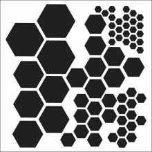 "Stencil Crafter's Workshop Template 6""X6"" -  HEXAGONS"