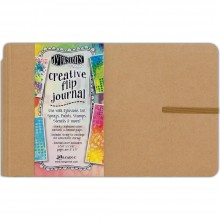 "Dyan Reaveley's Dylusions Creative Flip Journal Kraft 8.5""X5.5"""