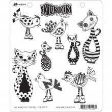 "Cat Among Pigeons Dyan Reaveley's Dylusions Cling Stamp Collections 8.5""X7"""