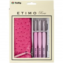 Crochet 3 Hook Set Rose Tulip Etimo