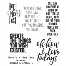 "Ponderings Tim Holtz Cling Stamps 7""X8.5"""