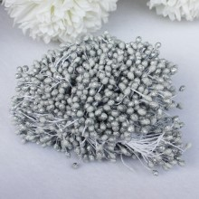 "8945088137496	15	Frosted Flower Stamens 2.25"" 100/Pkg - Sterling Silver"