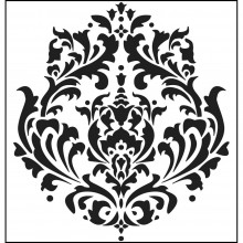 "Stencil Crafter's Workshop Template 6""X6"" - Brocade"