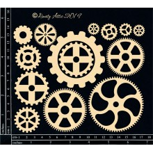 "Steampunk Notes 6""x7"" Dusty Attic Chipboards"