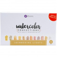 Shimmering Lights Prima Watercolor Confections Watercolor Pans 12/Pkg