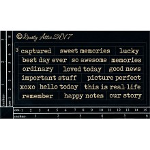 "Wordplay Memories BLACK 6""x3"" Chipboards"
