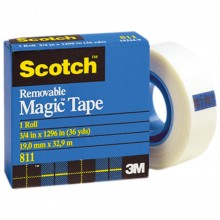 "Scotch ® Removable Tape .75""X36yd"