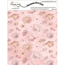 Flower Pastel Rice Paper A4 By Get Inspired