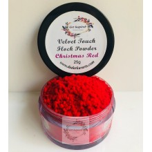 Christmas Red Velvet Touch Flock Powder By Get Inspired- 25ml Jar