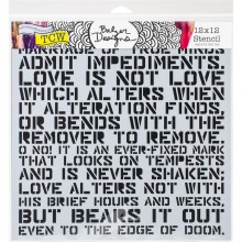 "Stencil 12""X12"" Crafter's Workshop Template - Love Sonnet"