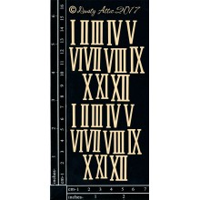 "Roman Numerals Black 6""x3"" Chipboards"