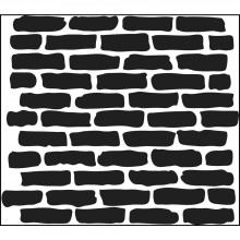 "Stencil Crafter's Workshop Template 12""X12"" - Bricks"