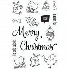 "Clear Stamps Merry Christmas Chickie By Your Next Stamp 4""X6"""
