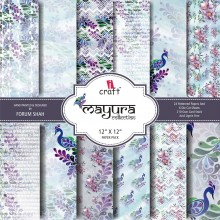 "Mayura Collection Paper Pad 12""X 12"" By Icraft"