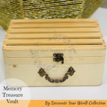 "Memory Treasure Wooden Vault 9.25""x 6""x 4"" by Decorate Your World Collection By Get Inspired"