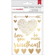 Gold American Crafts Valentine Rub-Ons