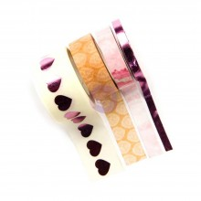 Love Story Decorative Washi Tape 4/Pkg