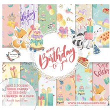 Happy Birthday To You 12x12 Dual Side Patterned Paper Pack By Get Inspired