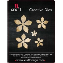 Icraft Flower Making Creative Dies Set Of Five M2