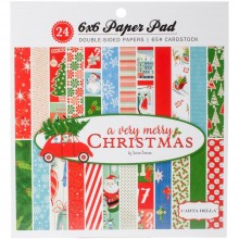 "Double-Sided Paper Pad A Very Merry Christmas 6x6"" 24/Pkg By Carta Bella"