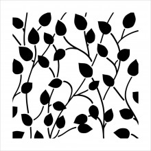 "Stencil Crafter's Workshop Template 6""X6"" - CLIMB VINE Reversed"