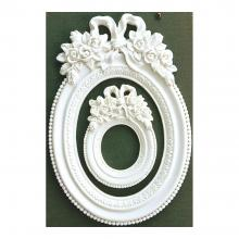 Resin Frames - Blanc Fleur Oval Memory Hardware By Prima