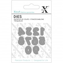 Xcut Mini Numbers Decorative Dies 10/Pkg