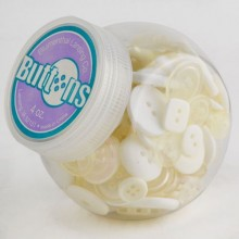 Button Jar 4oz - WHITE