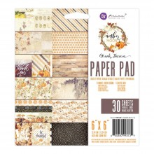 "Double-Sided Paper Pad 6""X6"" 30/Pkg By Amber Moon Prima Marketing"