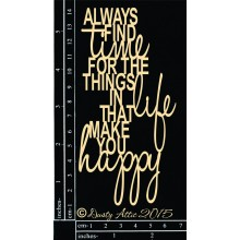 "Always find time 6""x3"" Chipboards"
