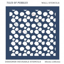 Tiles of Pebbles Home Decor Designer Reusable Stencil 35cmsx35cms